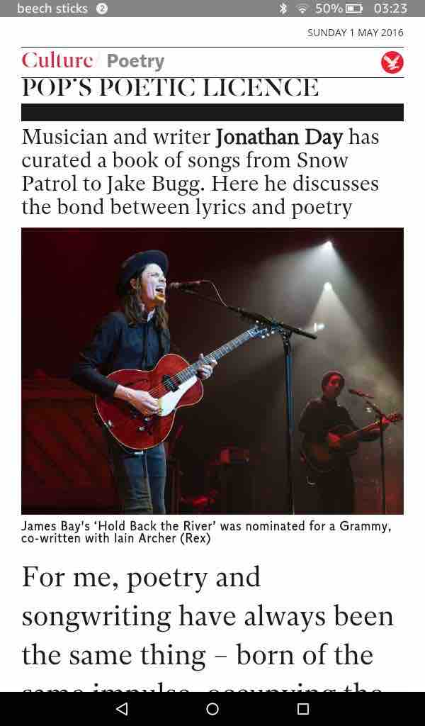 the Independent features 'Lyric'